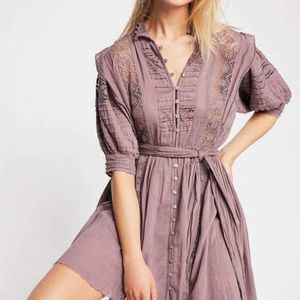 Free People Dresses - Free People FP One Sydney Crochet Plum Dress S